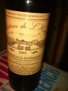 Château de L'Hurbe 2005, a wine by Agnés Bousseau