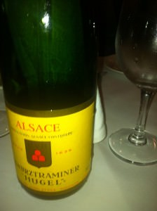 Hugel Gewurztraminer, one of the fine range of Hugel wines from Alsace