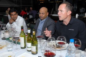 Steve with the Pernod Ricard India team at Toscano