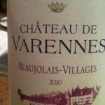 Chateau de Varennes, Beaujolais-Villages 2010