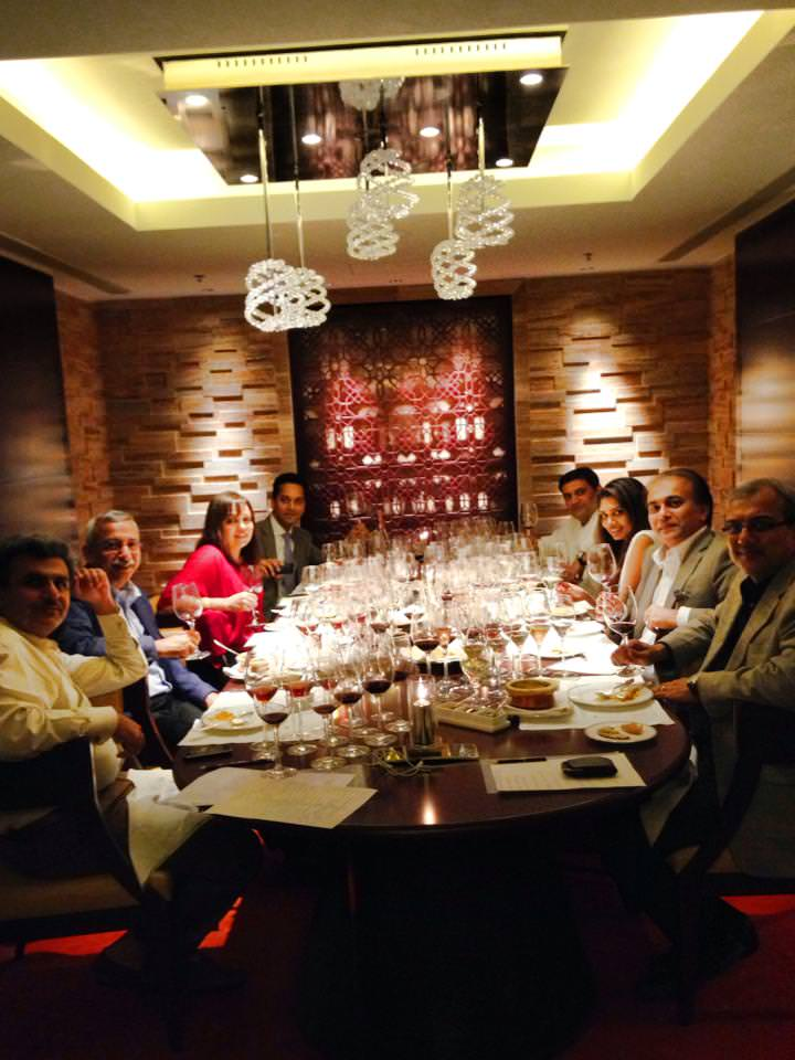 The study table: From left, Heemanshu Ashar, Vijay Bharadwaj, Ruma Singh, Nilesh Singh & Chef Anupam Banerjee from the Ritz-Carlton, Saanjna Subiah, Kripal Amanna, editor Food Lovers' magazine, Aslam Gafoor