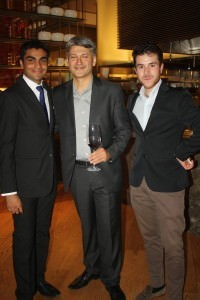 Manu Manikandan of the Ritz-Carlton, Vishal Kadakia of Wine Park with Emanuele Graetz at the dinner