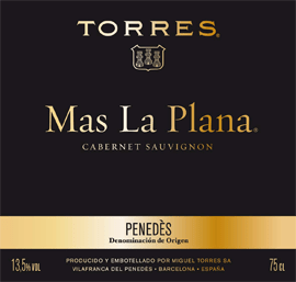 Mas La Plana, the single vineyard Cabernet Sauvignon from Torres