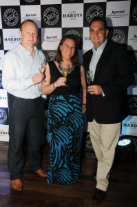 Nick Pringle and Emilie Munther of Accolade Wines with Nicholas Dumbell, GM, Marriott Bengaluru Whitefield