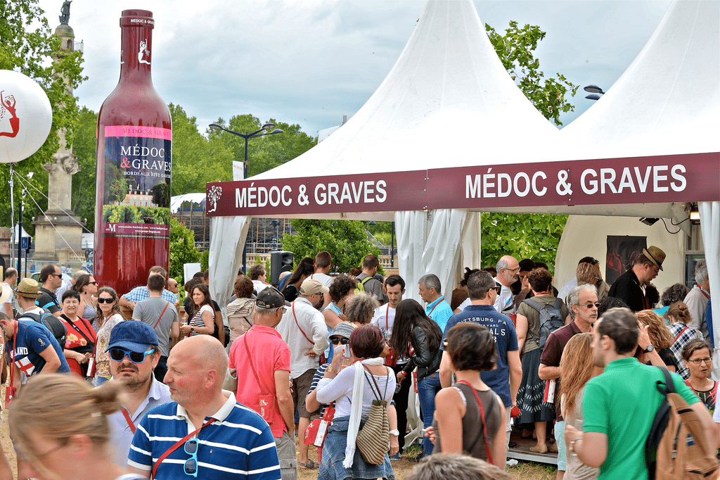 The Medoc and Graves stand at the Bordeaux Wine Festival