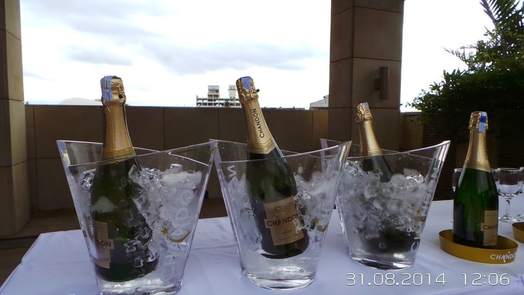 A pre-event view of the Chandon India stall