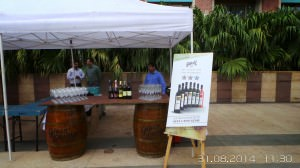 A view of the Grover Zampa stall