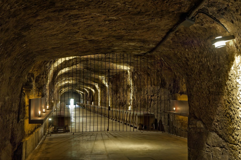 The ancient underground cellar
