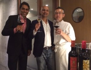 Sachin Chowdhery, entrepreneur and author, Rajeev Samant, Founder & CEO, Sula Vineyards, Chef Okamoto, 3-star Michelin Chef