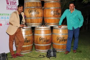 Sumedh Singh Mandla (right)at the Grover Wine Festival