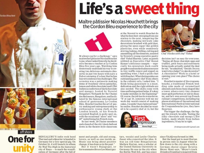 Life's sweet thing - Indian Express Oct 16 2015