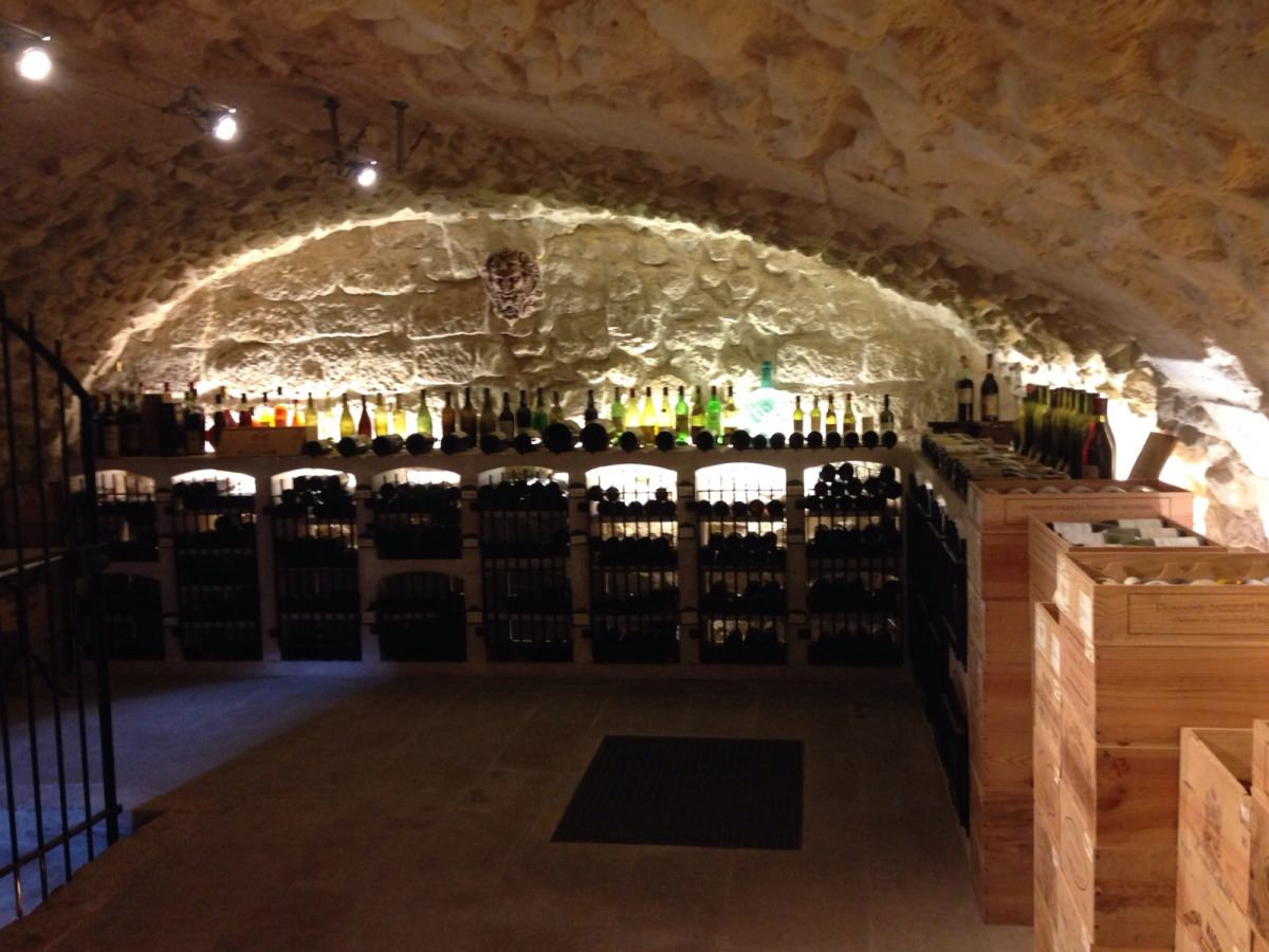 The De Vinis Illustribus cellar, filled with special vintages of French wine and vintage port