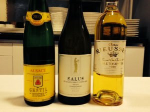 The white wines