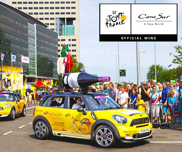 Cono Sur wines make a splash at Le Tour de France 2015