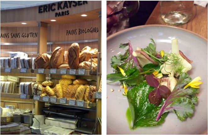 The gluten-free section at Eric Kayer's flagship boulangerie