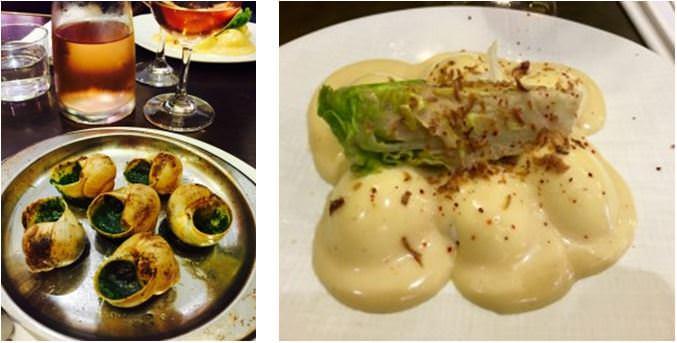 Escargots. Le Comptoir du Relais. Oeufs mayonnaise, a French classic at Le Comptoir du Relais.