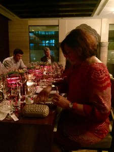 A glimpse of the Querciabella tasting at the Ritz Carlton bar in Bangalore