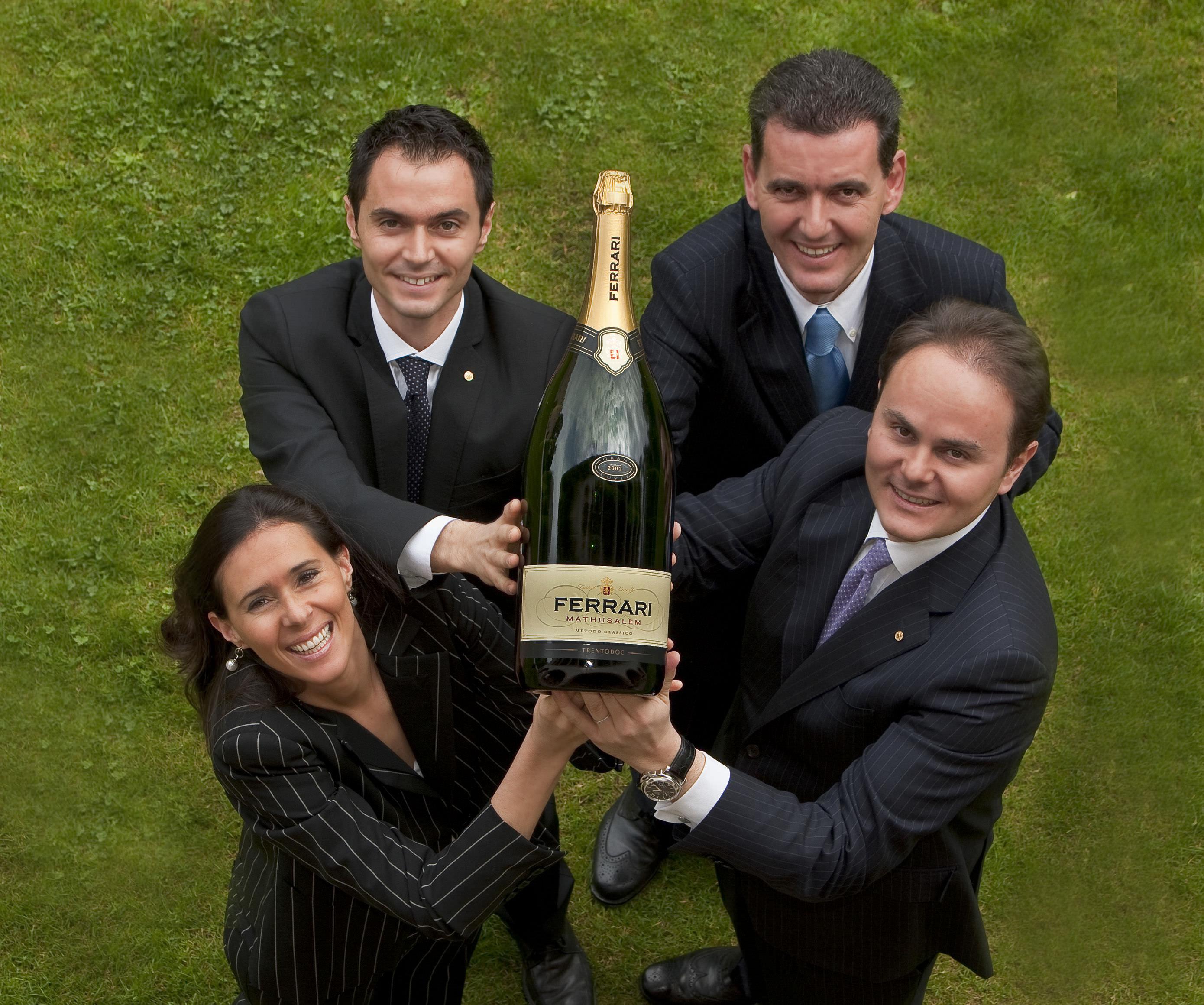 The Lunelli family: Camilla, Alessandro, Marcello and Matteo