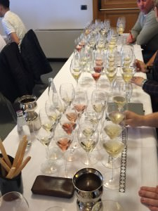 The comparative tasting of champagnes and sparkling wines under way