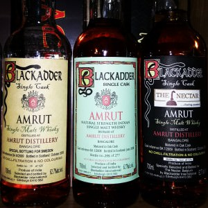 Steckel owns some rare Blackadder bottled Amrut variants