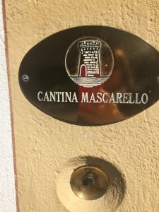 The old brass doorbell on the wall. That's all that announces Cantina Bartolo Mascarello