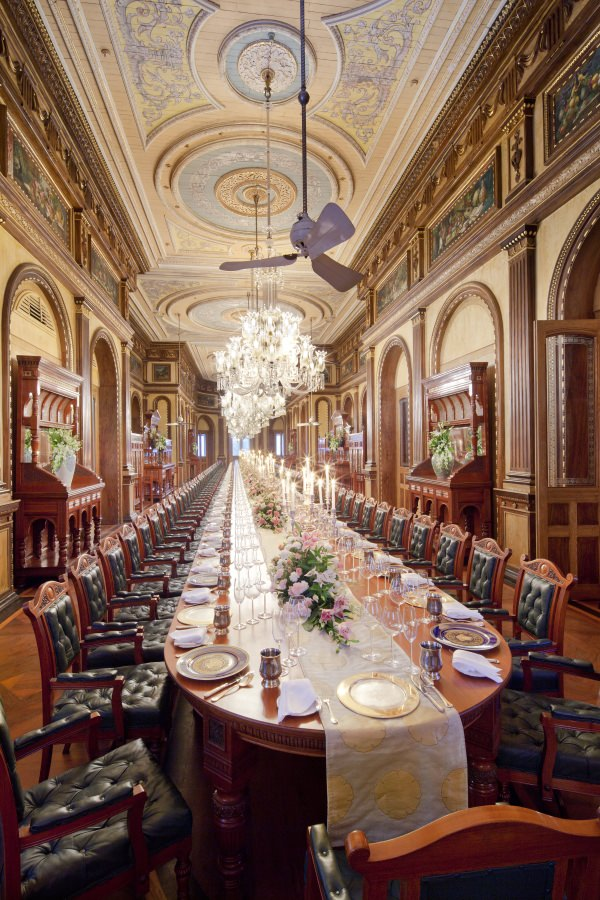 Taj Falaknuma's 101 Dining Room is nothing short of spectacular