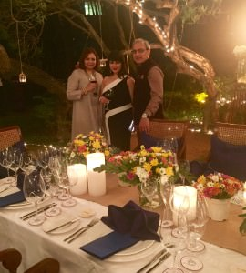 Madhulika Dhall (centre) at the 12-seat 6 course luxury finale dinner of the Fine Wine Affair at The Oberoi Bangalore