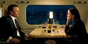 Bond and Vesper sip on Chateau Angelus in Casino Royale