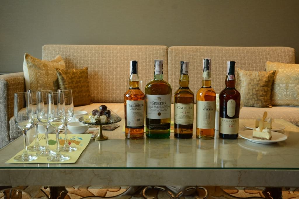 The whiskies lined up for the tasting in Bangalore