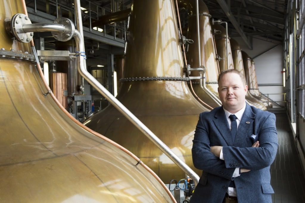 Donald Colville at the stills in the Glen Ord distillery