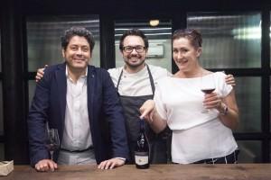 Tomasso Alessandri with Emma Hammonds, Regional Director, Constellation Brands (right) and Chef Alex Sanchez in Mumbai