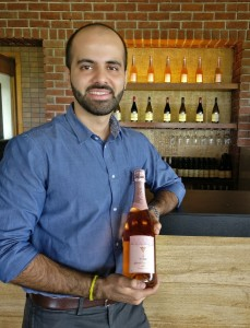 Kailash Gurnani with his new vintage sparkling rosé wine